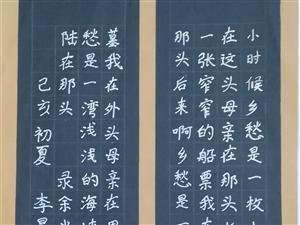 """我县小学生硬笔书法作品入展""""我是小小传承人""""首届全国小学生书法大展"""