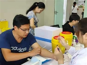 我市又一例造血干细胞捐献志愿者进行捐前体检