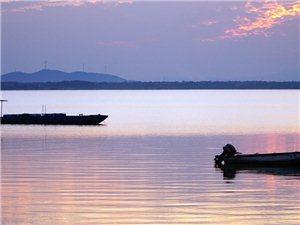 落日武昌湖(二)