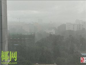 儋州发布雷雨大风黄色预警信号风力最高达9级并伴有强雷电