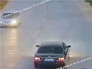 化州一小车撞飞摩托车后竟逃逸!
