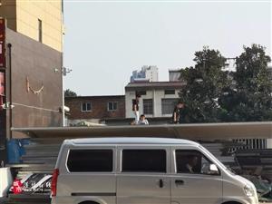 惊心!潢川西亚超市附近几个孩子爬上两米高停车棚玩耍..