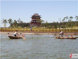 景州旗袍会游阜城湖,让这里湖光林色更秀美(高清)