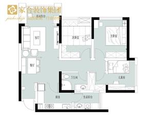 【家合装饰】98�O清新北欧3室2厅,营造舒适美好的生活格调