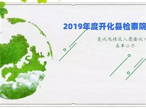 2019年�_化�h�z察院司法雇�T招��P�成�及入��面�人�T名��