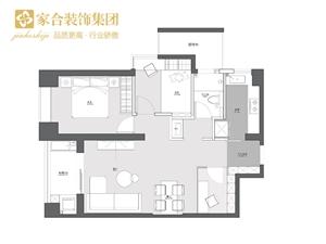 【家合装饰】78�O舒适北欧2室2厅,回归简单纯粹的生活