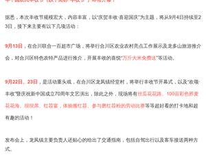官宣,合川区2019年中国农民丰收节要来啦!耍事儿超多……