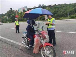 交警大队工业园区中队开展摩托车交通违法专项整治