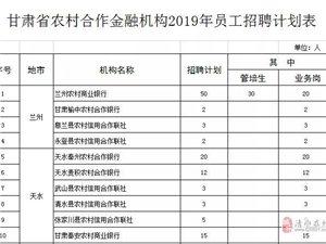 清水3人!甘肃省农村合作金融机构招聘工作人员