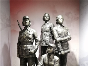 群塑:抗战时期的八路军女战士!
