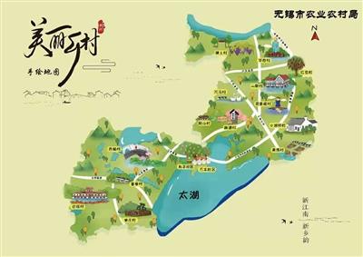 """无锡""""美丽乡村手绘地图""""新鲜出炉,我市4个村入册推广,来看看有你家吗?"""