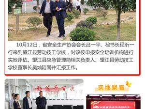 望江县劳动技工学校安全培训机构接受省安全协会评估