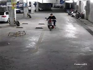 扩散!在盐亭中央天街停车场电瓶车被盗,谁认识这个人,好面熟?