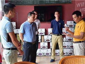省委督查室调研员颜平龙一行到白沙电商园调研