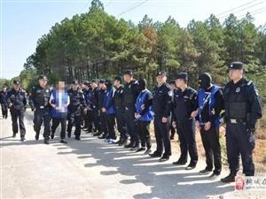 扫黑除恶!桐城警方押解13名涉黑涉恶犯罪团伙主要作案成员公开指认现场!