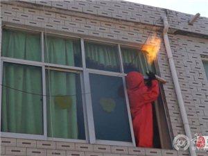 宿州一农家外墙上有6个蚂蜂窝 消防火攻处理
