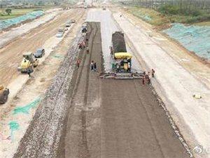 滁州市南谯南路新建工程进入大粒径水稳层施工阶段