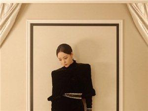 张靓颖黑色高开叉长裙