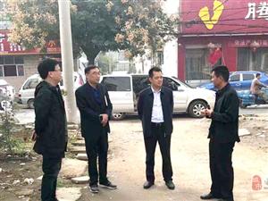 县委副书记尹永彪实地督导创卫工作