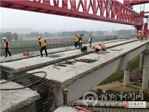 宿州旅游大道上跨符夹铁路立交桥顺利全线贯通