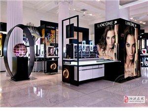 三个化妆品展柜色彩这样搭配让人就想买买买