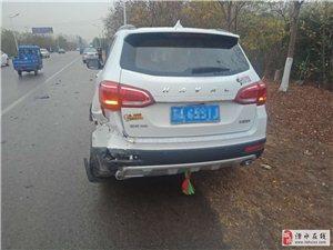 今早在常溧公路�|屏�T神��附近�l生的一�t交通事故