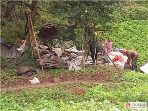 广安区综合执法局及时拆除违法搭建