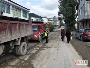 交警大队金孔中队持续加强货运车辆违法行为整治