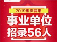 2019年酉阳事业单位公告已发布,共计招录56人