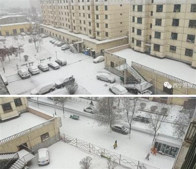 大通下雪了!未��3小�r�任��市�^��…