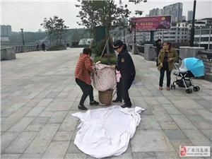 执法为民热情服务广安区综合执法局打造观景平台靓丽市容