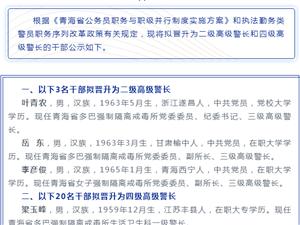 公示|青海�x升23名人民警察��