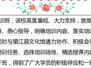 安庆皖江中等专业学校望江挑花培训班开班