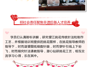 安庆皖江中等专业学校举办望江挑花培训班聚焦非遗传承人群培养
