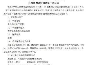 河北宝燕电力器材有限公司电力器材生产项目公示内容