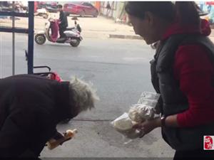 �州八十�q老太沿街翻找垃圾桶公交人暖心�椭�