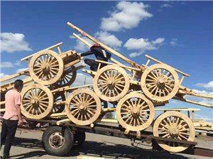 正蓝旗上都镇蒙元蒙古包厂的勒勒车
