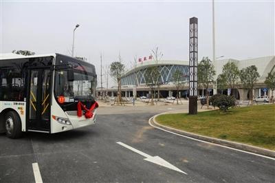 �R泉高�F站公交�路正式通�了,�可以免�M乘坐!