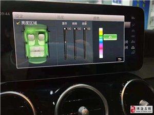 20款奔驰GLC260L改电吸门64色氛围灯ACC自适应巡航旋转高音头