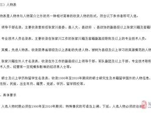 《张家川回族自治县志》1990-2010)入志人物的征集启事