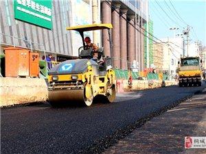 同安路地下综合管廊盛百至北岛段开启路面施工