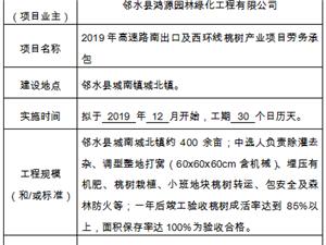 2019年高速路南出口及西环线桃树产业项目劳务承包 工程公告