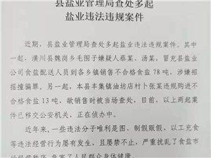 丢人!潢川县两人在邻县各乡镇销售不合格食盐78吨被抓!