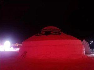 正蓝旗启明蒙古包公司的雪雕蒙古包