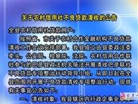 【巴彥網】掃關(guan)于農村信用(yong)社(she)不良貸(dai)款清收的公告(gao)