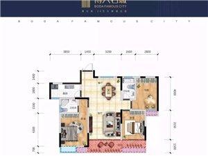 ��r5XXX元/平方米,���新二中旁博大名城三至四房!