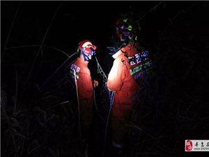 寻乌一男子被困山沟,消防深夜救援,为他们点赞!