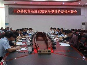 白沙县召开民营经济发展软环境评价反馈座谈会