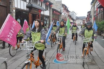 绿色骑行倡导低碳生活