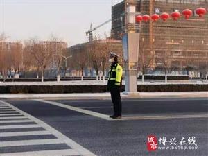 """【护航两会】博兴交警全力做好""""两会""""期间道路交通安全管理工作"""